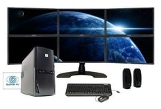SUPER PC | Six Monitor Computer and Hex LED Display Array | Intel Core i7 | 32GB DDR3 | 1TB SSD | Windows 7 Pro | Complete System Package!