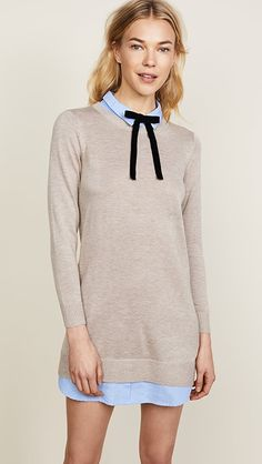 Find and compare ENGLISH FACTORY Combo Shirtdress across the world's largest fashion stores! Over 50 Womens Fashion, Fashion Over 50, Look Fashion, Fashion Clothes, Fall Fashion, China Mode, 50 And Fabulous, Thanksgiving Outfit, China Fashion