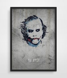 The Joker Poster Superheroes DC Comics by TheWatermelonFactory