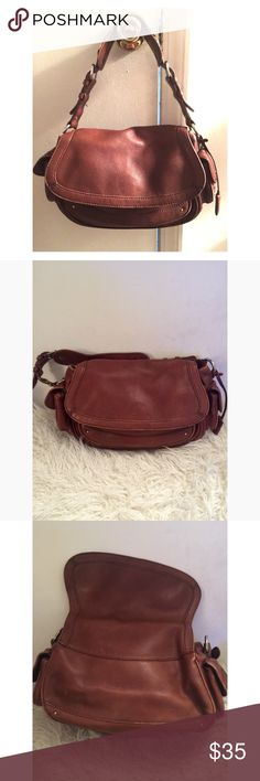BANANA REPUBLIC Leather bag BR Brown, All Leather Purse. Pre-owned with  scratches 8c4d3f0820