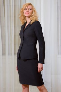 Bluesuits -- Madeleine Classic 3-Button Business Suit Jacket. Real style for the office. Made in New York City.