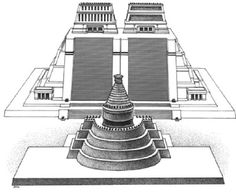 Temple to Echecatl, the Aztec wind god, in Tenochtitlan opposite the Templo Mayor.