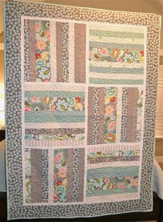 Over the years that I have designed fabric, I created many easy quilt patterns to share and promote my fabric! This great little design is for the beginning qu