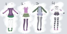 Outfit Batch 12 CLOSED by hito-chan19.deviantart.com on @DeviantArt