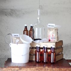 1 Gallon Beer Brewing Kit / Homebrew Starter Kit / by UrbanBrewery, $115.00