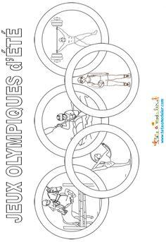coloriage anneaux olympiques - Google Search