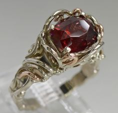 14kw Gold and Garnet Ring 1767