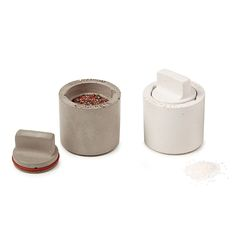 Concrete Salt and Pepper Shakers | Recycled Concrete Salt and Pepper Shakers | UncommonGoods