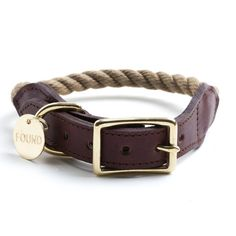 New York States of Mind Marketplace: Handmade Rope Dog Collar. Made in Bed-Stuy, Brooklyn.
