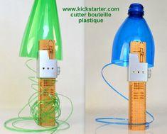 Le cutter magique qui découpe et recycle les bouteilles plastique.. Voilà la bête...le cutter qui découpe les bouteilles plastique pour en faire de la ficelle. Un cutter magique qui transforme en un tour de main une bouteille plastique en fils plastique. Il ne paie pas de mine me direz vous...