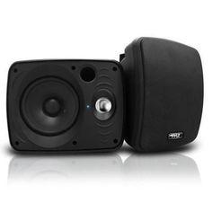 Waterproof & Bluetooth 6.5'' Indoor / Outdoor Speaker System, 800 Watt, Black
