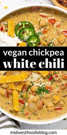 Tasty Vegetarian Recipes, Vegan Soups, Vegan Dinner Recipes, Vegan Dishes, Veggie Recipes, Whole Food Recipes, Cooking Recipes, Healthy Recipes, Recipes With Chickpeas Vegan
