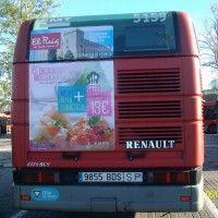 Publicidad autobús Valencia - Jornadas gastronómicas Ayuntamiento del Puig de Santa María