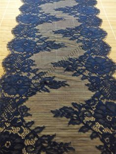 """30ft navy Lace Table runner,  13""""  , navy  table runners, wedding  table runners , R15011502"""