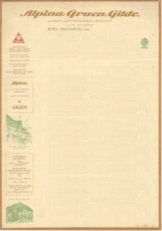 Historic Alpina Letterhead.