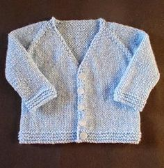 Baby V-Neck Cardigan - Free knitting patterns for babies are always fun to make and the Baby V-Neck Cardigan is no exception. This adorable sweater pattern has a chic city look to it to ensure that your little one takes on the world in style from a very young age. If you've ever wanted to learn how to knit a sweater, but were too intimidated by the vastness of the project, a baby knitting pattern is a great step because it is such a quick knit.