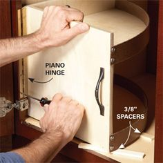 DIY Swing out shelf for under your bathroom vanity!