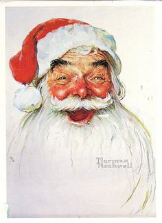 Norman Rockwell Santa Claus...omg I need to find this in a print