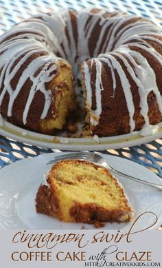 Cinnamon swirl coffee cake that is so easy to make as it uses a coffee ...