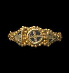 An Anglo-Saxon gold and enamel ring. Circa A.D. 850-950. | © Bonhams 2001-2014