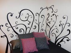 decopared: Mural cabecero pintado