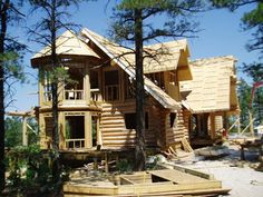unique log cabin | Please give us a call so we can come and discuss your vision of your ...