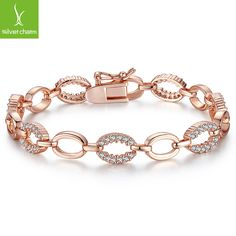 Hot Sale Luxury 18k Gold Plated Bracelet for Women Lady With AAA Zircon Crystal Pulseras Fashion Jewelry Gift XCLB020 ALX-SCJS ALX-SCJS