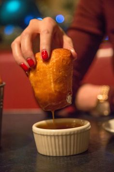 Secret Menu Item: Toffee Sauce at Blue Smoke. Blue Smoke's Fry Bread is a soft doughy bread that is served up fresh out of the oven with the secret TOFFEE SAUCE.