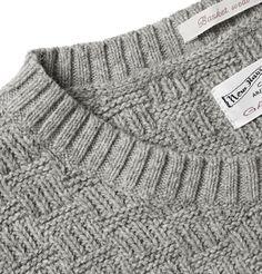 Gant Rugger - Basketweave Knitted Sweater | MR PORTER                                                                                                                                                                                 More