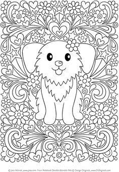 Notebook Doodles Adorable Pets: Coloring & Activity Book (Design Originals) 32 Dazzling Designs from Dogs & Cats to Hedgehogs & Hermit Crabs; Art Activities for Tweens with Color Palettes & Examples Bird Coloring Pages, Dog Coloring Page, Adult Coloring Book Pages, Doodle Coloring, Coloring Books, Notebook Doodles, Zen Colors, Hermit Crabs, Mandala Drawing