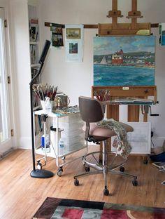Kathleen Chaney Fritz artist studio