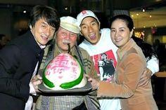 Jackie Chan w/ Family