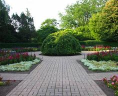The Octagon Garden offers a three-season display of tulips in the spring, annuals in the summer and mums during the fall.