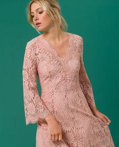 Midi Dress Lace - Blush - IVY & OAK