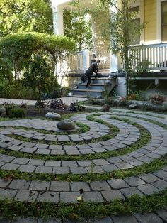 paver yard labyrinth