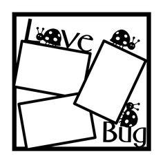 Love Bug Ladybug Scrapbooking Die Cut Overlay