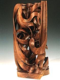 Monumental wood sculpture, Gaia, American Black Walnut   Harry Pollitt
