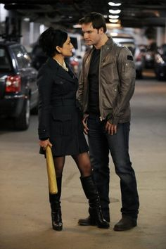 Still of Archie Panjabi and Scott Porter in The Good Wife (2009)