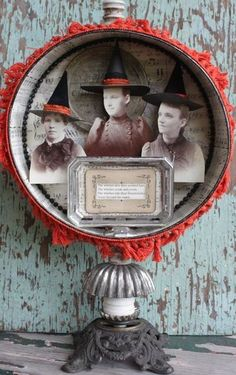halloween assemblage by Cheryl Kuhn...