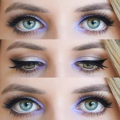 Lavender Eye Makeup, Love this, especially for hooded eyes and mono lids! Just a pop of colour, but not too bold.