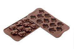 Foremka silikonowa do czekoladek KURCZAKI ZAJĄCZKI SILIKOMART SCG30 Ice Tray, Silicone Molds