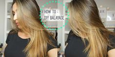 HOW TO : DIY Lighten/Balayage your hair at home - YouTube