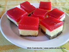 Reni szelet Hungarian Cake, Hungarian Recipes, Cheesecake, Pudding, Sweets, Baking, Food, Cakes, Drinks
