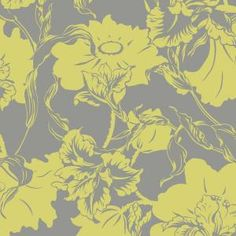 Bedroom accent wall! -The Wallpaper Company 56 sq. ft. Lime Large Floral Wallpaper-WC1283612 at The Home Depot