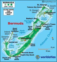 Bermuda Map and Information, Map of Bermuda, Flags and Geography of Bermuda -Worldatlas.com #LOFTSummerGetaway
