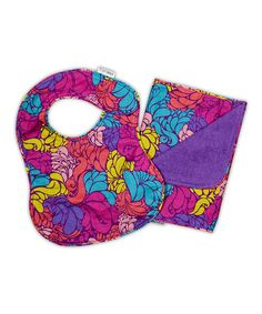 Take a look at this iota Groovy Girl Bib & Burp Cloth by Tote Style: Diaper Bags & Gear on #zulily today!