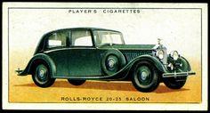 Cigarette Card - Rolls-Royce 20-25 Saloon, 1936