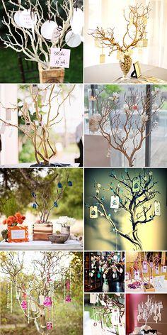 Wishing Tree { DIY Prettiness } organic ideas...fallen branches...garden clearance re-use.....