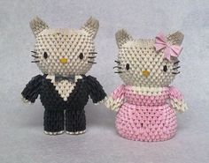 3D Origami - Hello Kitty Prom Night