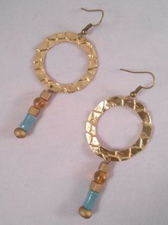 Metal Hoop and Bead Drops